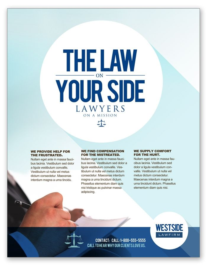 Attorney and Law Firm Flyer Corporate Identity Pinterest - law firm brochure