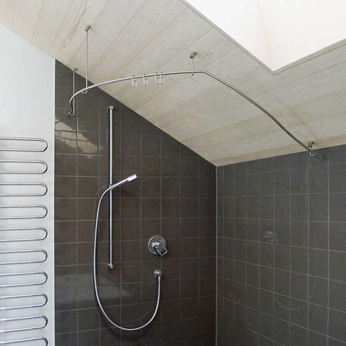 Individuell Gefertigte Duschvorhangstange Aus Edelstahl Duschvorhangstange Dusche Vorhange