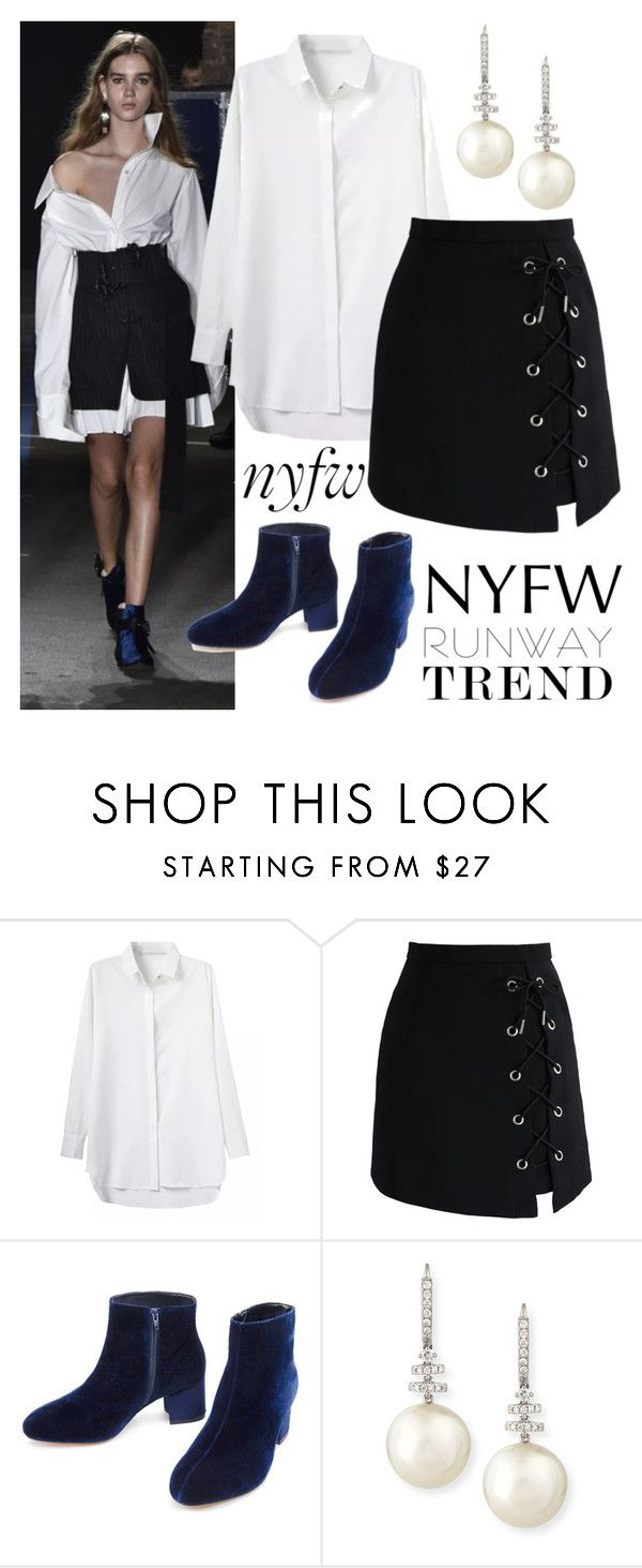 """""""NYFW : RUNWAY TREND"""" by maryamemara ❤ liked on Polyvore featuring Monse, Chicwish and Belpearl"""