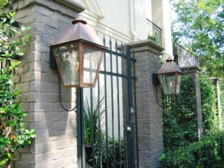 Love Large Gas Lanterns For A Front Gate