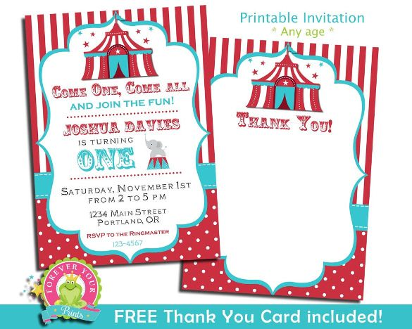 23+ Carnival Birthday Invitations u2013 Free PSD, Vector EPS, AI - invitation free download