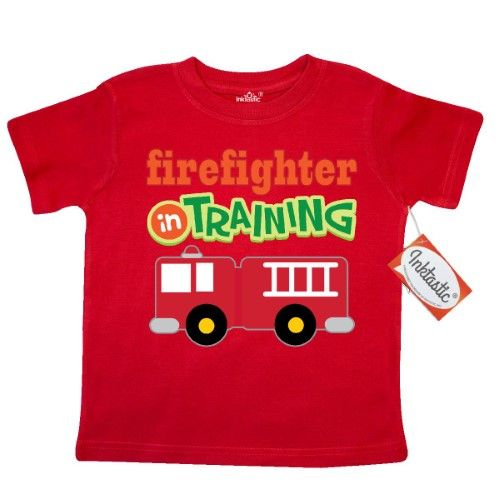 902a8954e Inktastic Firefighter In Training Toddler T-Shirt Future Fireman Fire  Engine Truck Kids Cute Childs Tees. Gift Child Preschooler Kid Clothing  Apparel Hws, ...