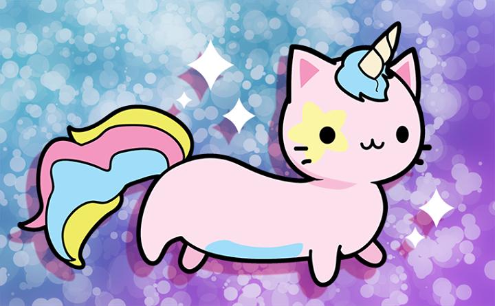 Kawaii unicorn cat Kat Webb Mermaiden