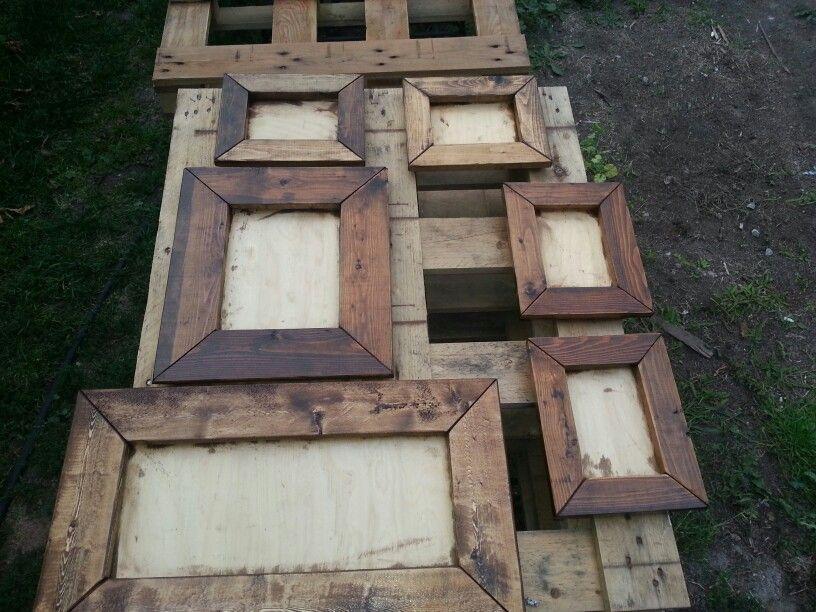 pallet picture frames … | Pinteres…