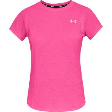 b10796797bf ... De Wit Schijndel. Under Armour UA Streaker 2.0 Short Sleeve shirt dames  pink