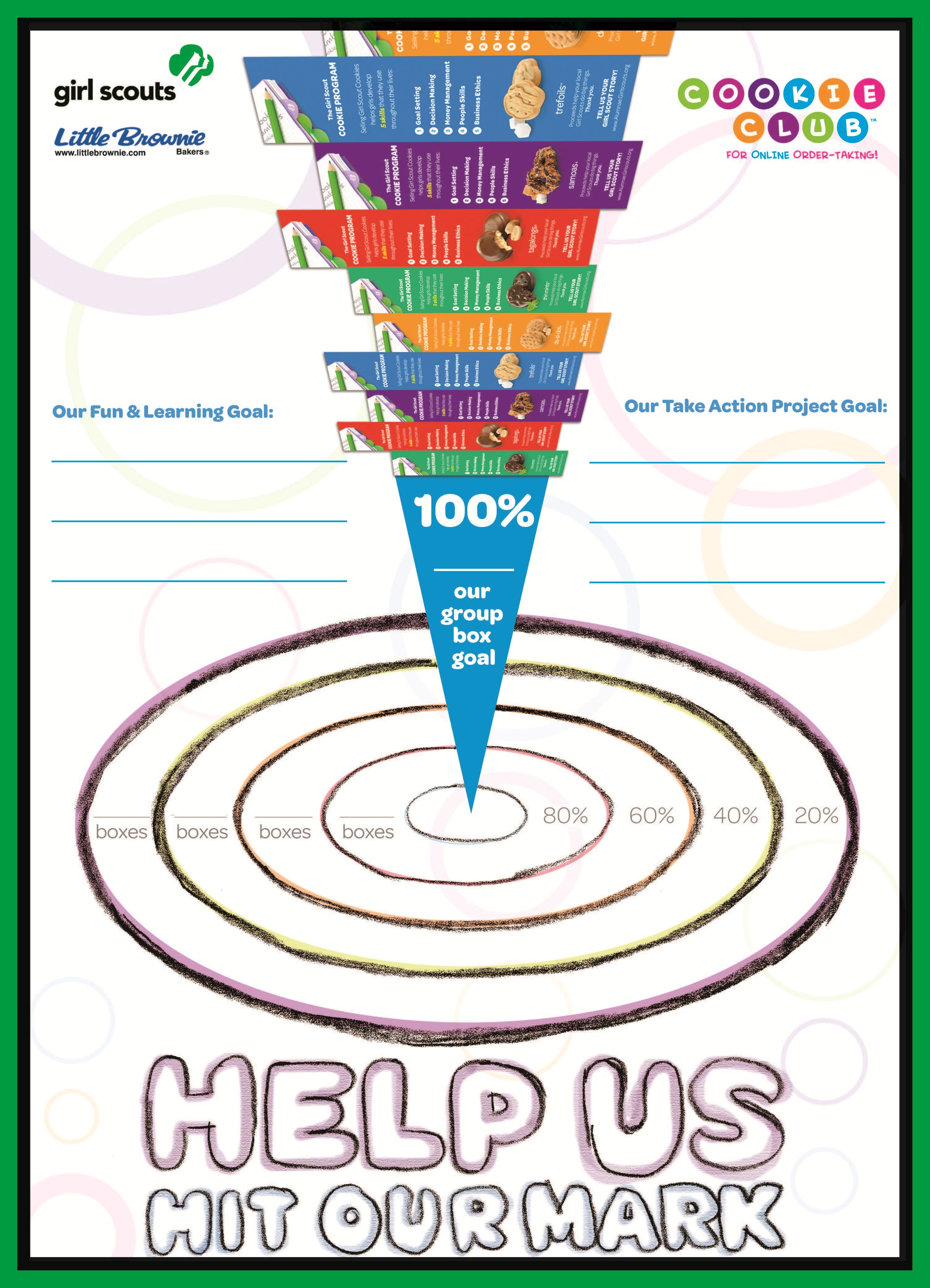 Girl Scout Cookie Goal Poster