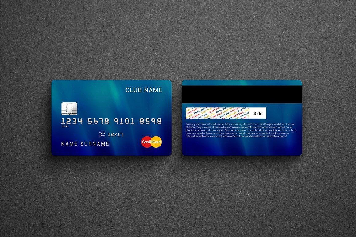 Credit bank card mockup objectpixeldpiresolution