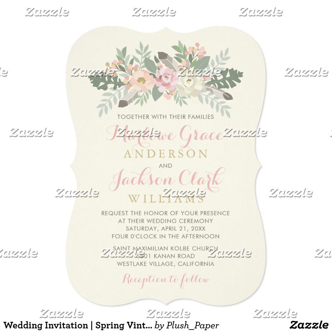 Wedding Invitation Spring Vintage Boho: Spring Bird Themed Wedding Invitations At Reisefeber.org