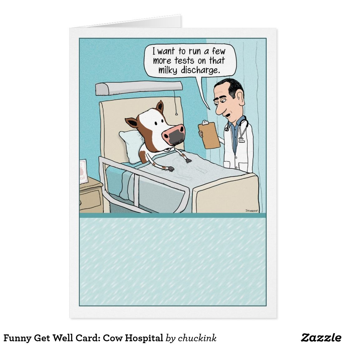 Funny get well card cow hospital card funny greeting cards funny get well card cow hospital card kristyandbryce Choice Image