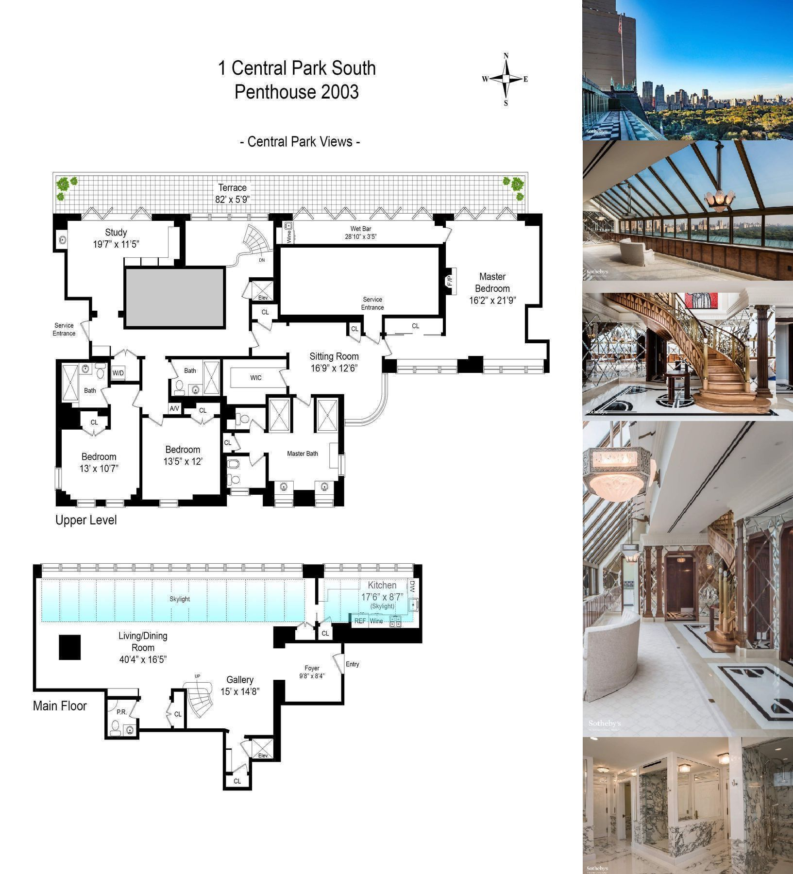 Central Park New York Condos: 1 Central Park South PH-2003 Is A Sale Unit In Central