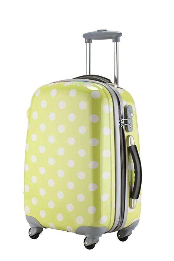 Ambassador Luggage Polka Dots Polycarbonate Expandable 20