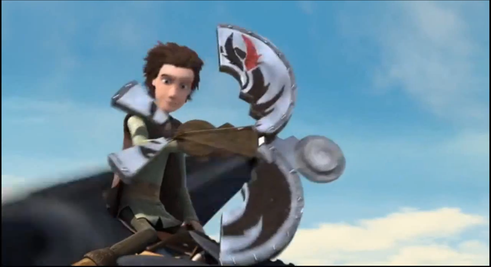 Does anyone notice how when on crossbow-mode, the shield takes on the form of a Night Fury? I love Dreamworks and Hiccup! XD