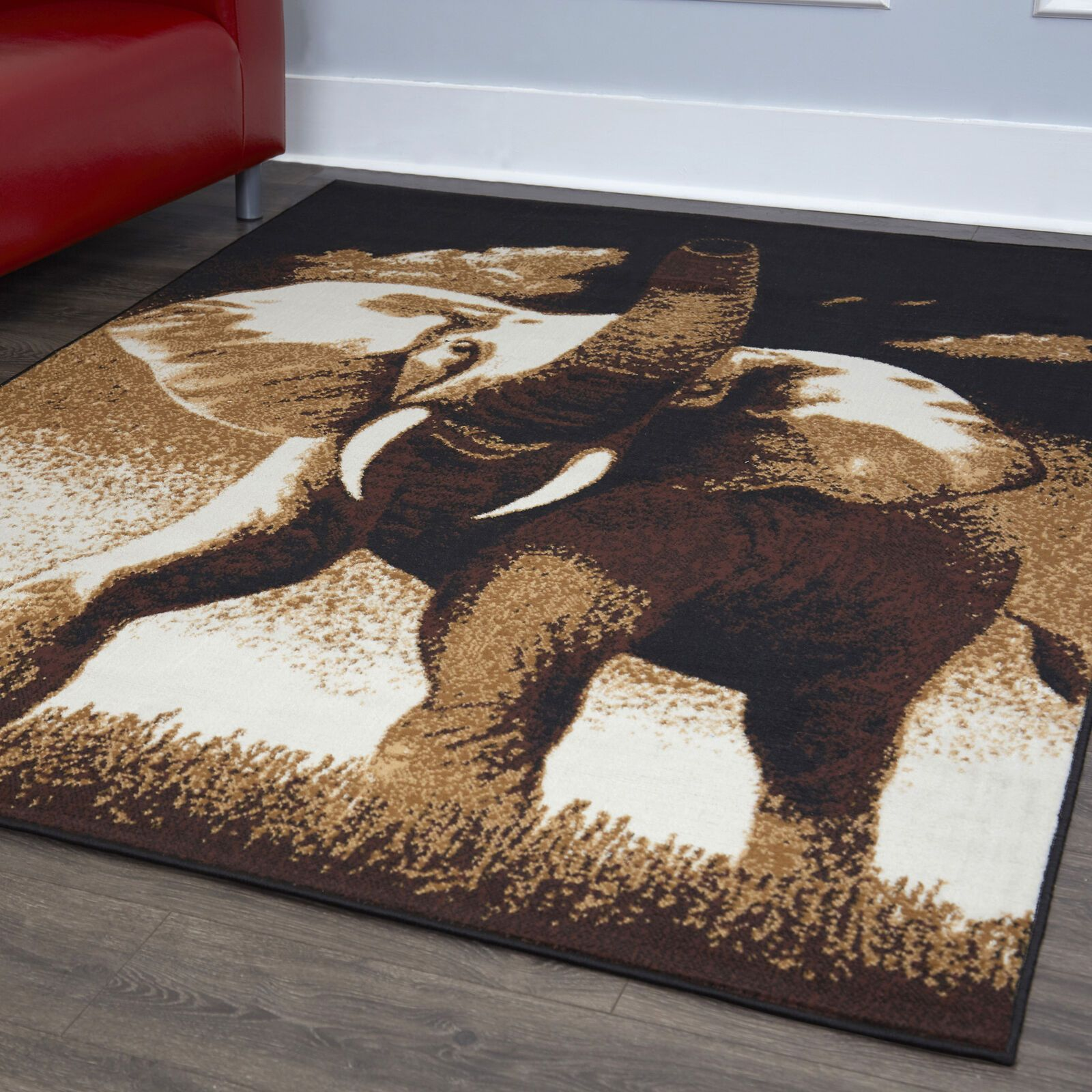 Details about Bold African Elephant Tusks Area Rug Modern