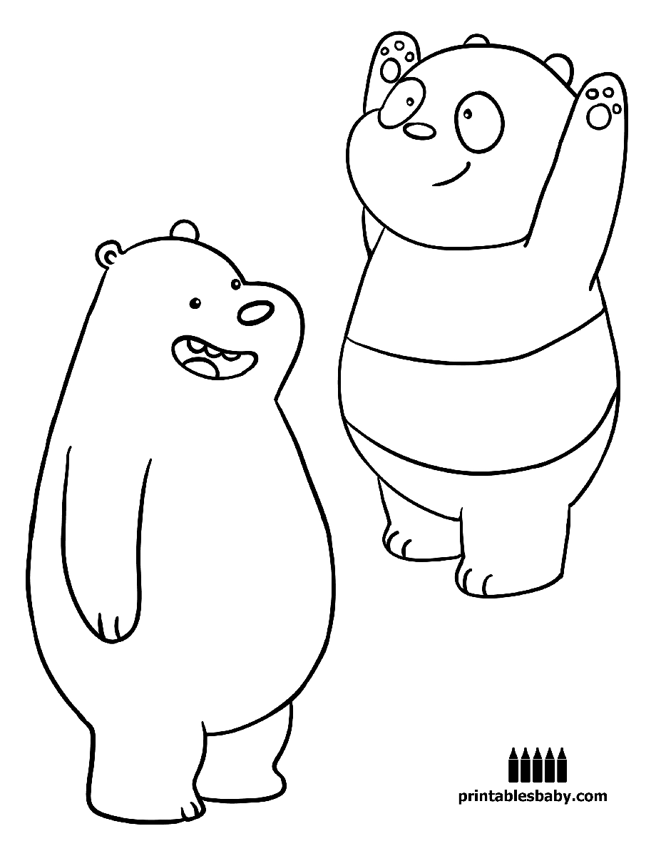 Bear Cartoon Coloring Pages Photos
