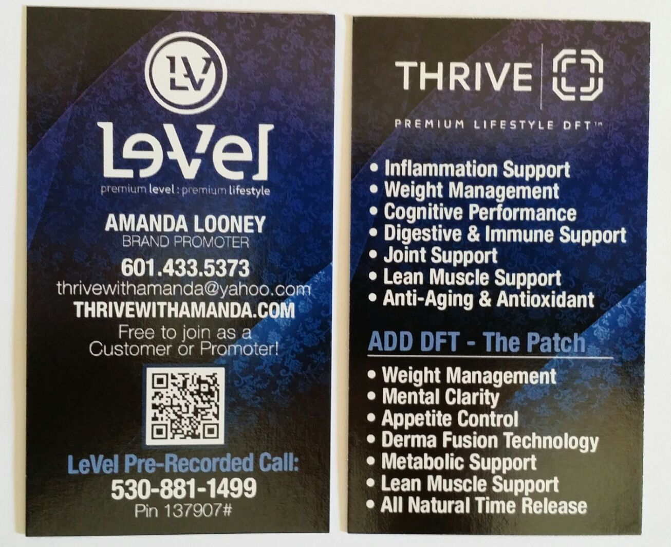 My New Le Vel Business Cards Have You Joined The Thrive