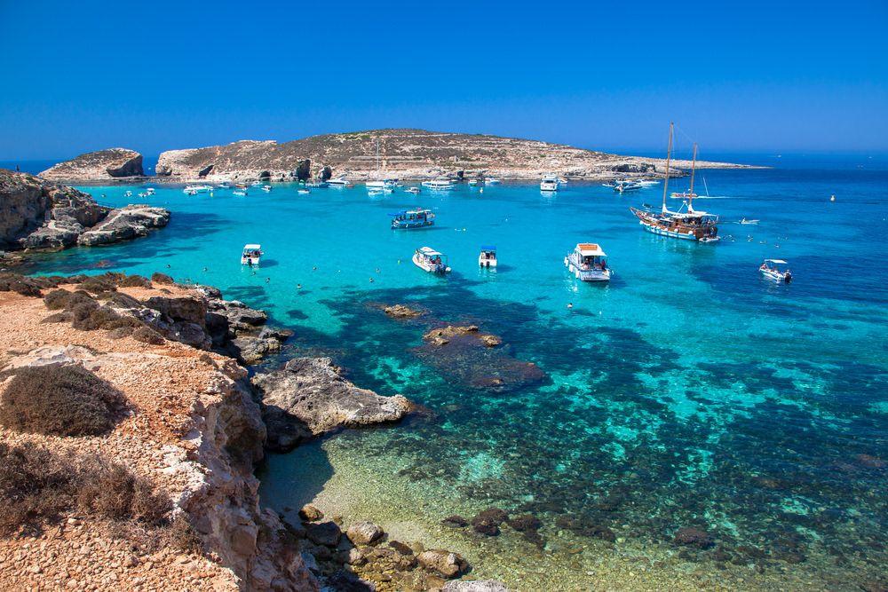 Blue Lagoon At Comino Island Malta Malta Travel Malta Island Malta Comino
