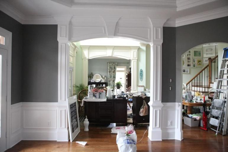 benjamin moore secret is beautiful and one of the best dark gray, charcoal paint colours, especially with white wainscoting!