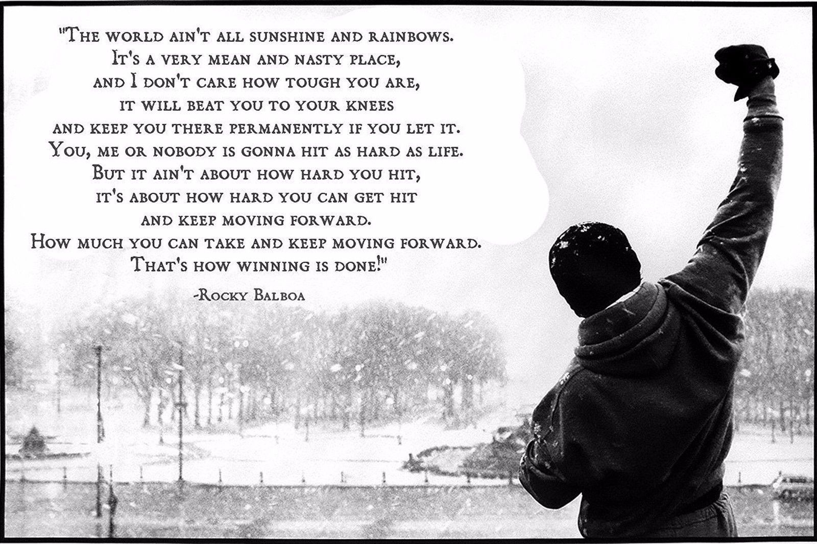 15 rocky balboa quote poster 24inx18in36inx24in print