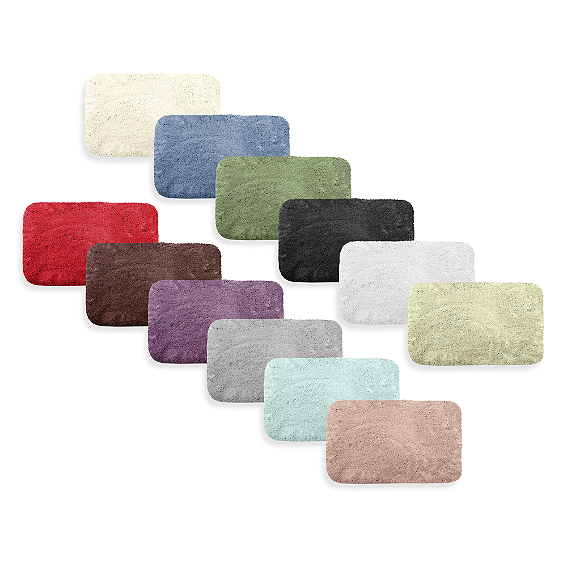 Microdry 17 Inch X 23 Inch Plush Bath Rug With Memory Foam