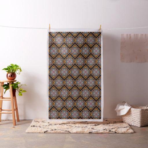 Mosaic Garden Polyester Poplin Fabric   Zazzle.com #fabric #forfashiondesigners #seamstress #sewing #clothingdesign #pattern #symmetry #mandala