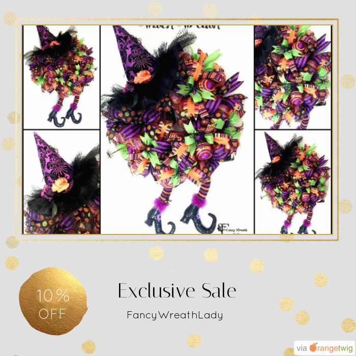 10% OFF on select products. Hurry, sale ending soon!  Check out our discounted products now: https://www.etsy.com/shop/FancyWreathLady?utm_source=Pinterest&utm_medium=Orangetwig_Marketing&utm_campaign=FALL%20%26%20HALLOWEEN   #etsy #etsyseller #etsyshop #etsylove #etsyfinds #etsygifts #photoofthedays #loveit #instacool #shopping #onlineshopping #instashop #musthave #instagood #photooftheday #picoftheday #love #OTstores #smallbiz #instafollow #sale #instasale