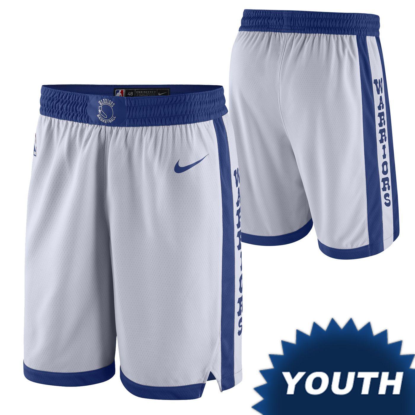 e9a0e590525 Golden State Warriors Nike Dri-FIT Youth Classic Edition Swingman Short -  White
