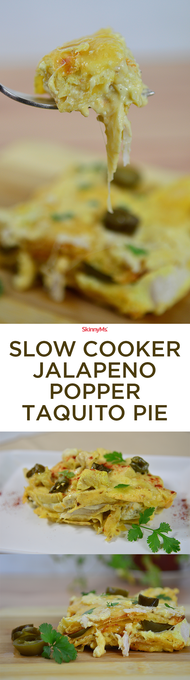 Slow Cooker Jalapeno Taquito Pie