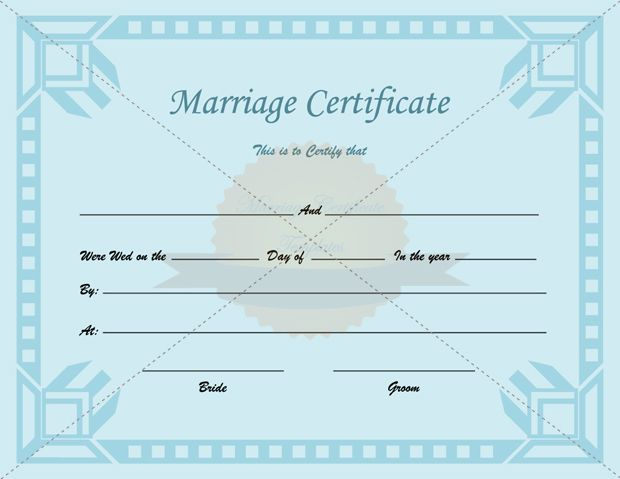 Certificate of marriage printable template certificate of marriage printable template marriagecertificatetemplate yadclub Images