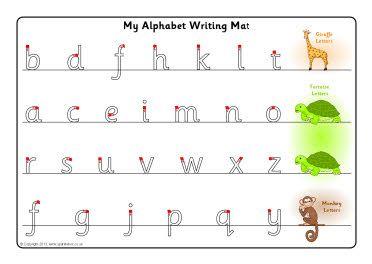 giraffe tortoise and monkey letter formation mats sb9175 sparklebox