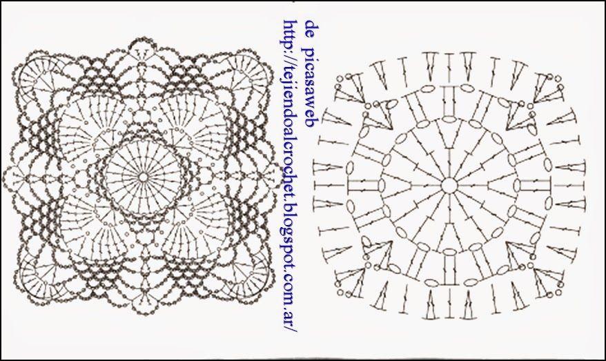 PATRONES - CROCHET - GANCHILLO - GRAFICOS   Crochet   Pinterest ...