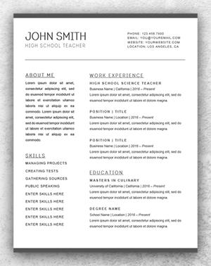 simple resume template word 2 simple resume template word - Simple Resume Template Word