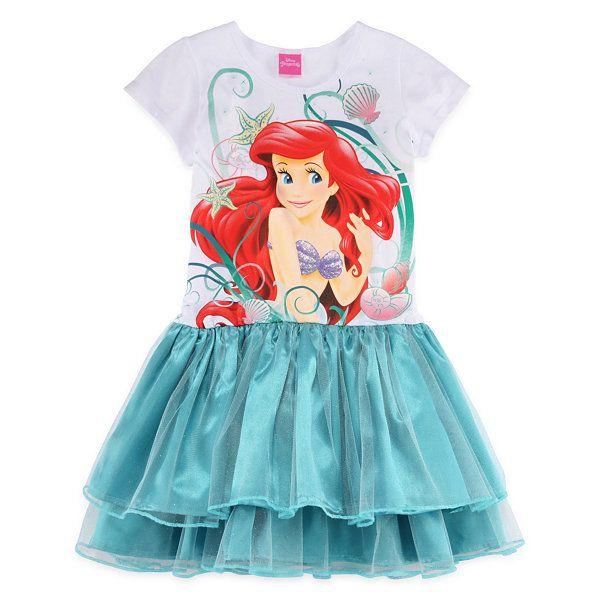 a3e979a307ce1 Little Mermaid Glitter Dress - Girls 7-16 - JCPenney   Ariel ...