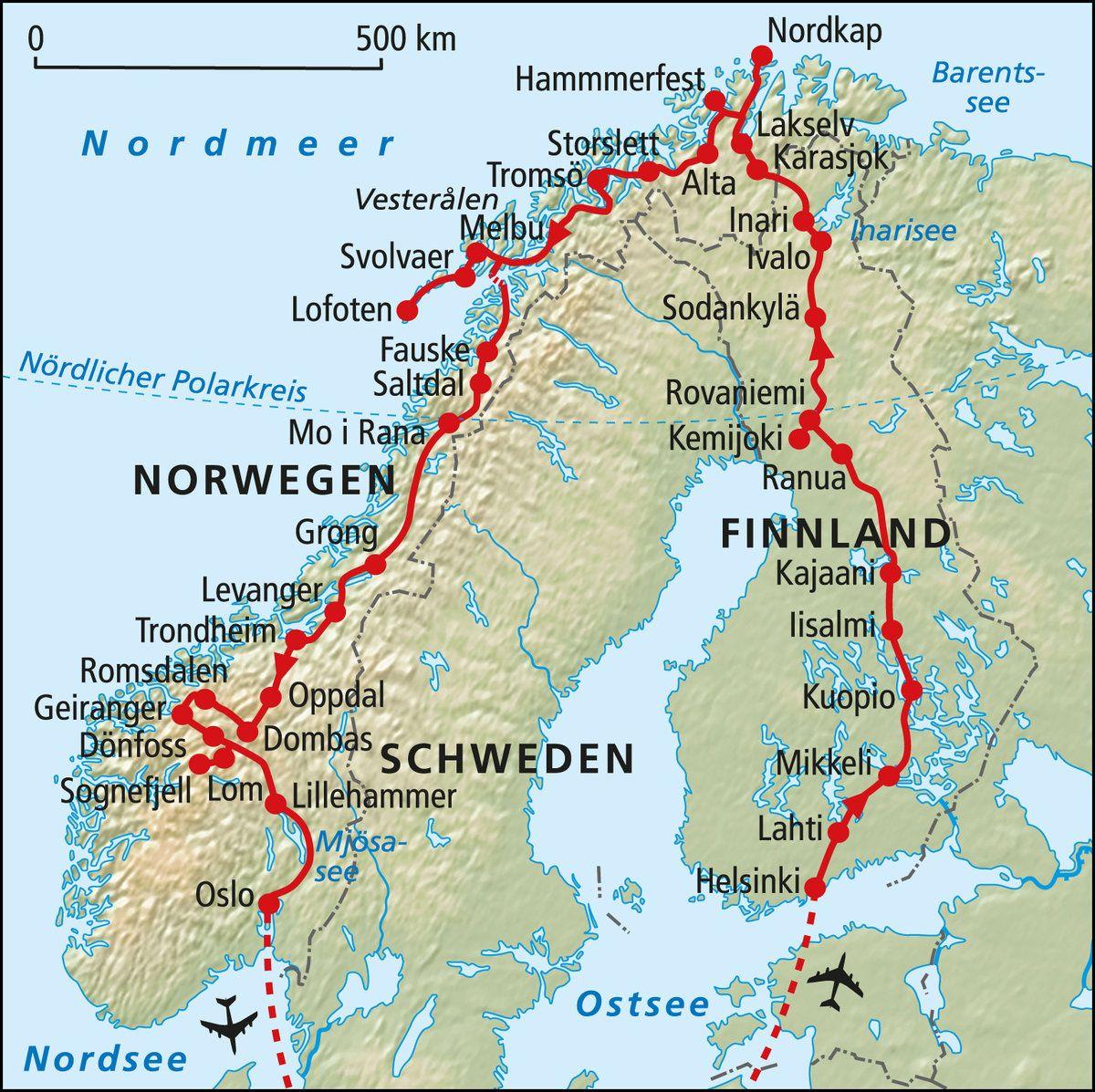Nordkap Reise Durch Skandinavien Rotel Tours Das Rollende Hotel In 2020 Nordkap Skandinavien Skandinavien Rundreise