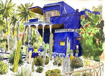 art of evrard de caqueray maroc marrakech jardin. Black Bedroom Furniture Sets. Home Design Ideas