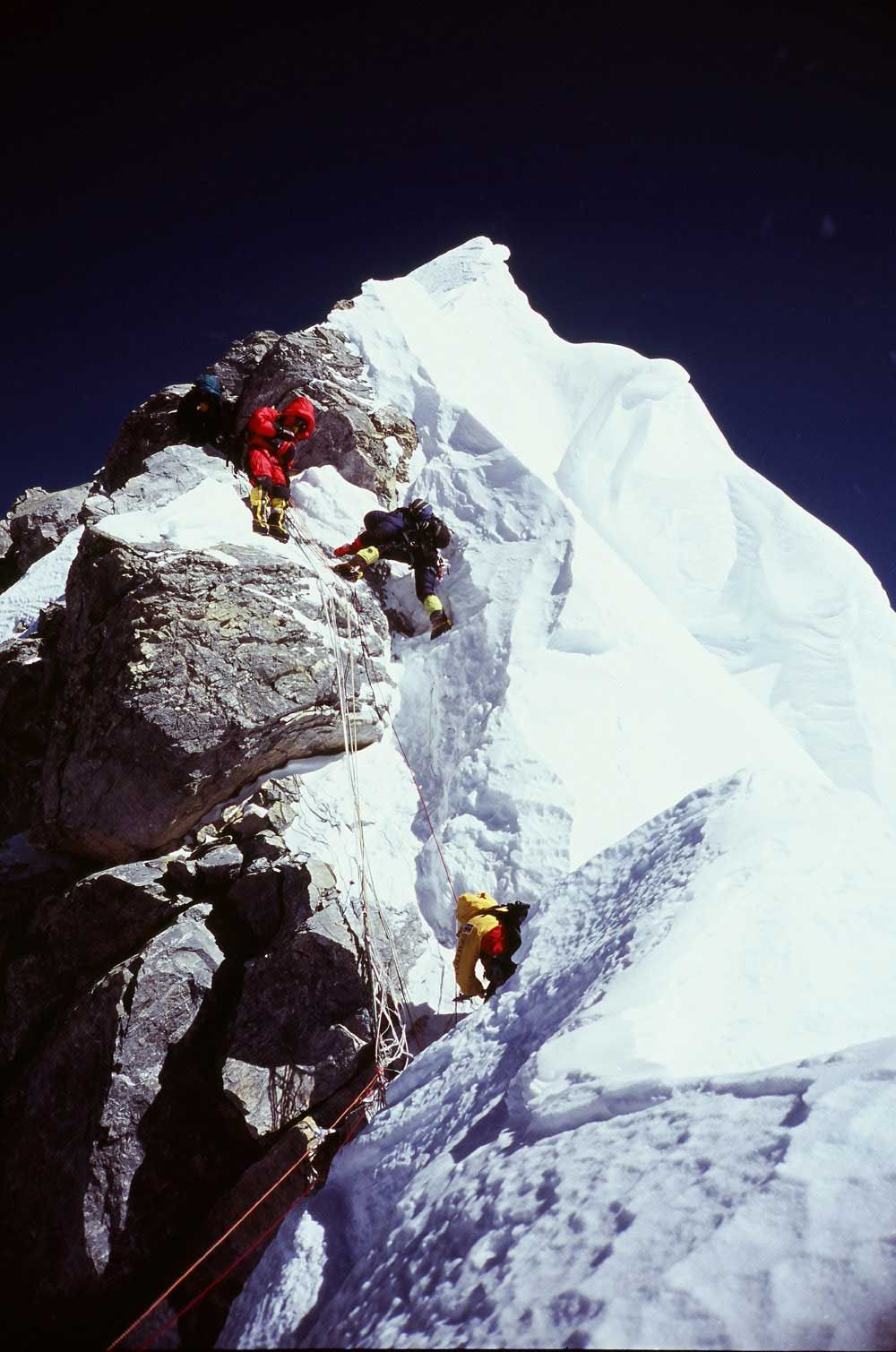 Hillary step on Mount Everest & Hillary step on Mount Everest | Mount Everest - 8848m (1 ...