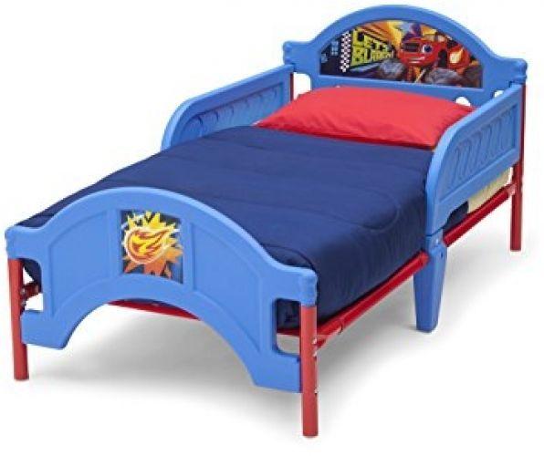 plastic toddler bed kids boys bedroom furniture blue nick jr blaze children new