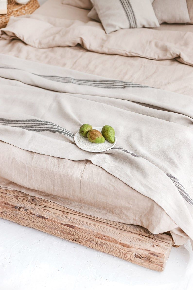 Linen Throw Blanket Decorative Throw Blanket Rustic Linen Blanket Heavyweight Linen Throw Grain Sack Linen Striped Linen Throw Blanket Linen Throw Rustic Linen Decorative Throws Blanket