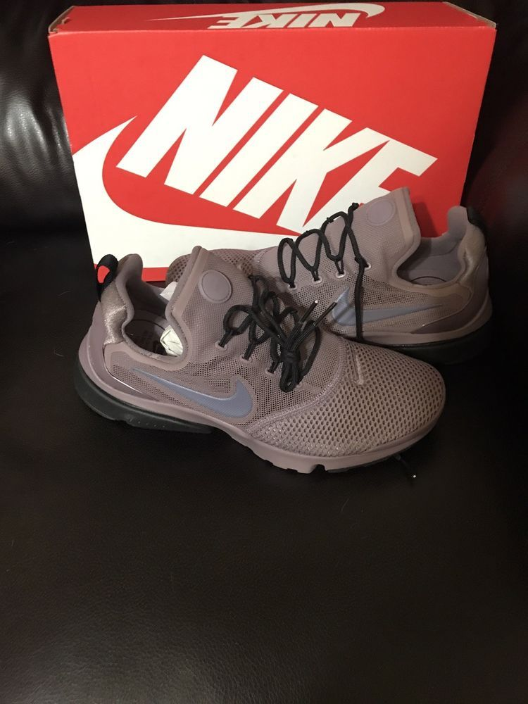 c173c9d6f956 Nike Presto Fly Womens 910569 200 Taupe Grey Carbon Black Running Shoes  Size 8  Nike