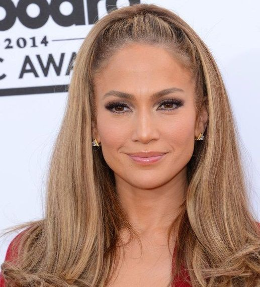 Jlo Hairstyles Entrancing Half Up Hair Straight  Jlo Style  Pinterest  Jennifer Lopez Hair