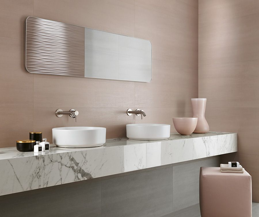 Wall Tiles With A Hint Of Metal For Residential Bathrooms Bathroom Interior Design Pink Tiles Bathroom Decor