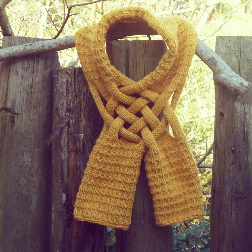 That Is Pretty Cool Scarf Knit Pattern Yellow Mustard Pdf Ebook How