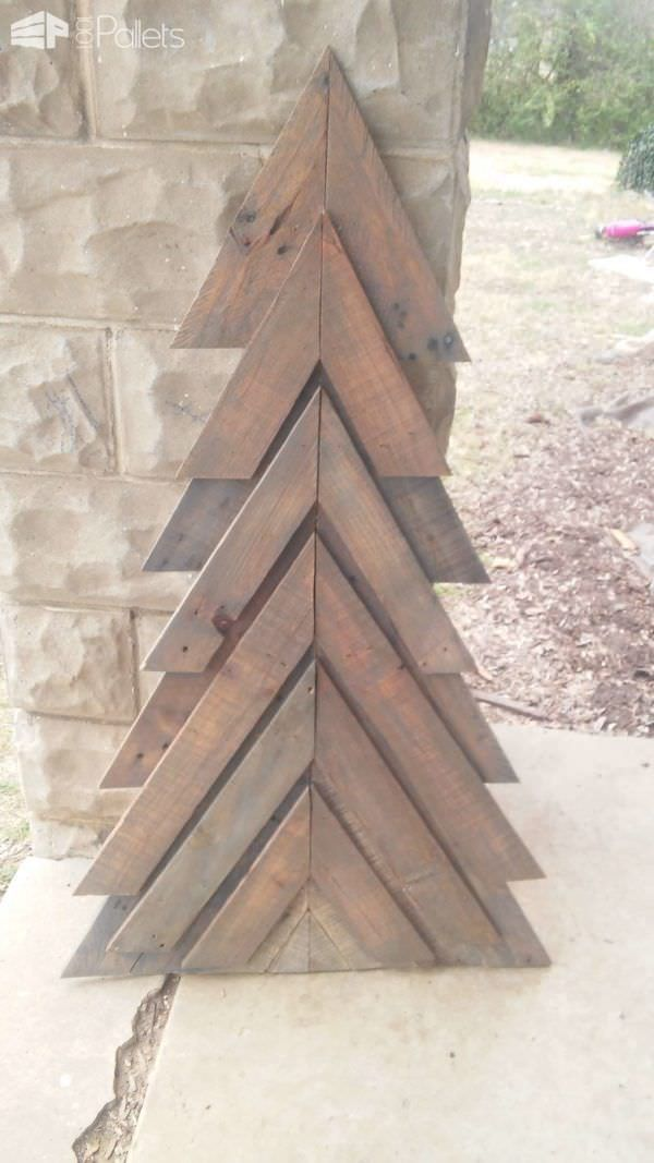 #PalletChristmasTree, #PartyDecor, #ReclaimedPallet, #Tree  We made this pretty Pallet Chevron Christmas Tree from discarded pallets. I got the idea from a project someone else had done previously. I'm very happy with the end result.  Pallet Chevron Christmas Tree - some challenges, but a pleasing end