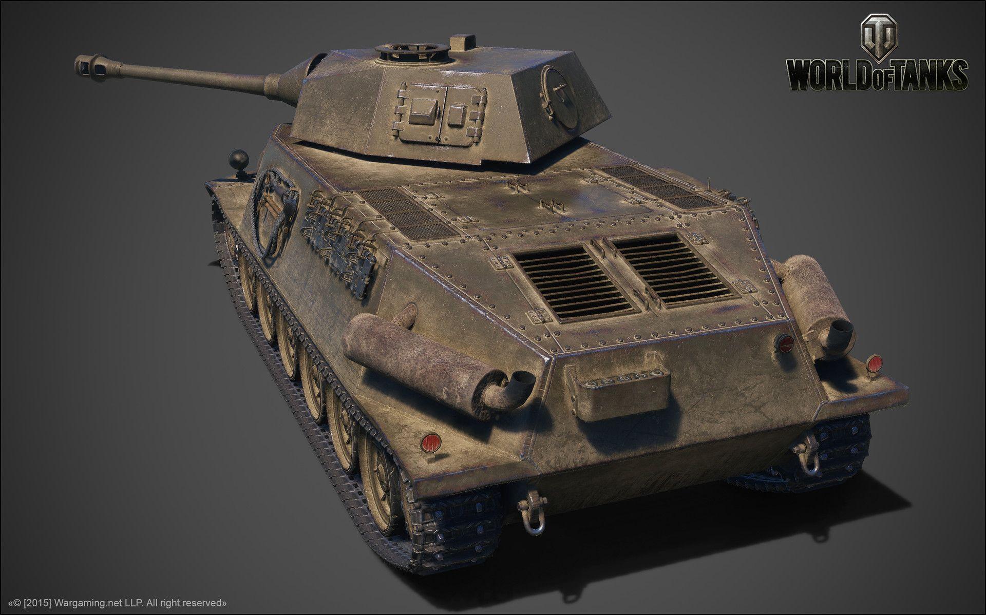 ArtStation Škoda T 24, Anton Grozin World of tanks