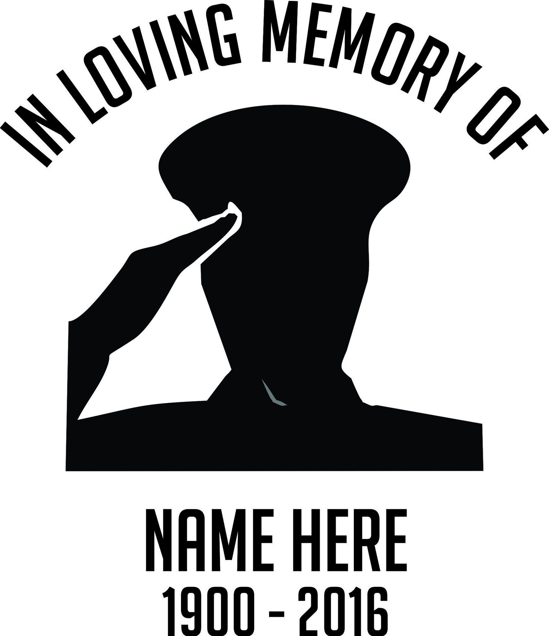 In Loving Memory Military Car Window Windshield Lettering Decal
