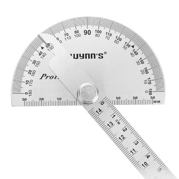 Wynns W0262a 90x150mm 180 Degree Stainless Steel Protractor Round Angle Ruler Tool Protractor Ruler Tools For Sale