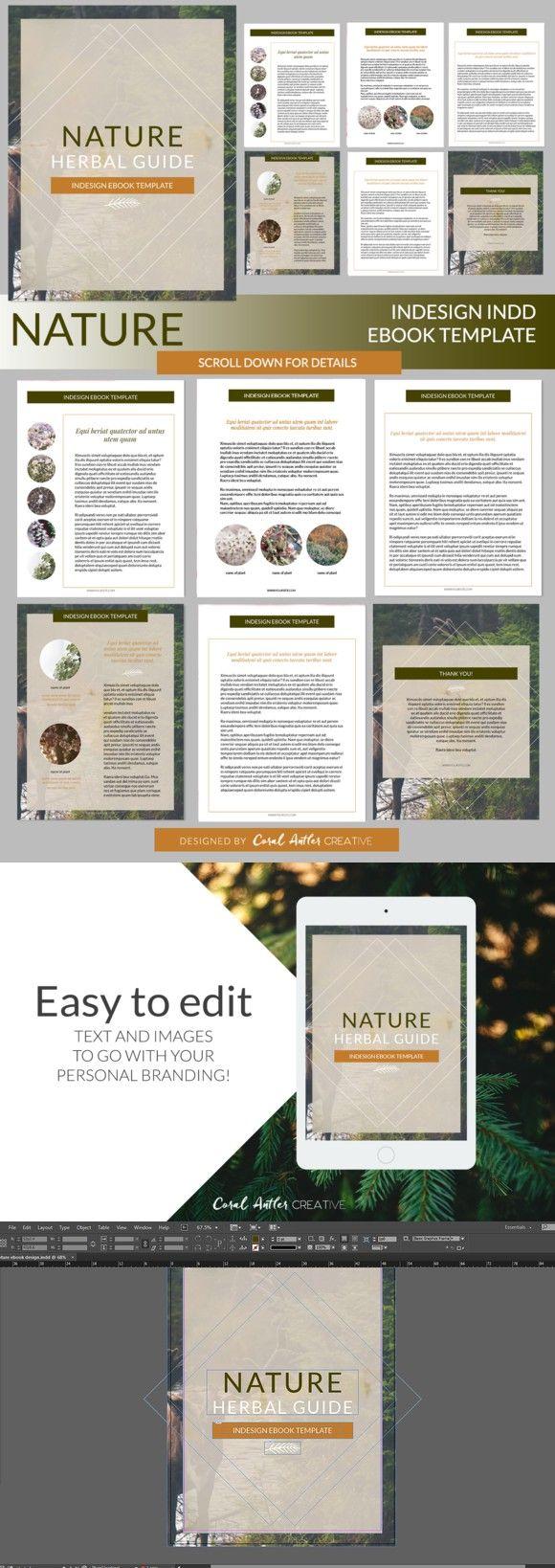 Nature InDesign Ebook Template | Presentation Templates | Pinterest ...