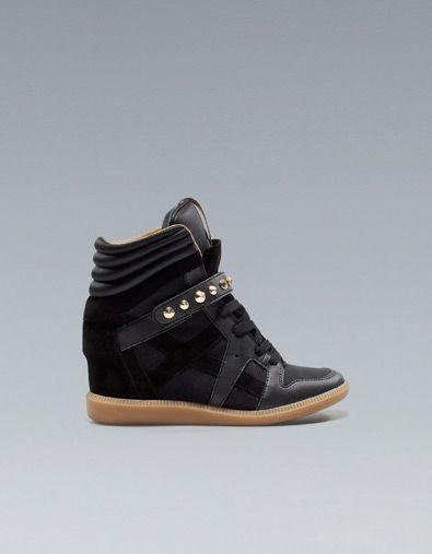 Zara wedge sneakers!   Studded sneakers
