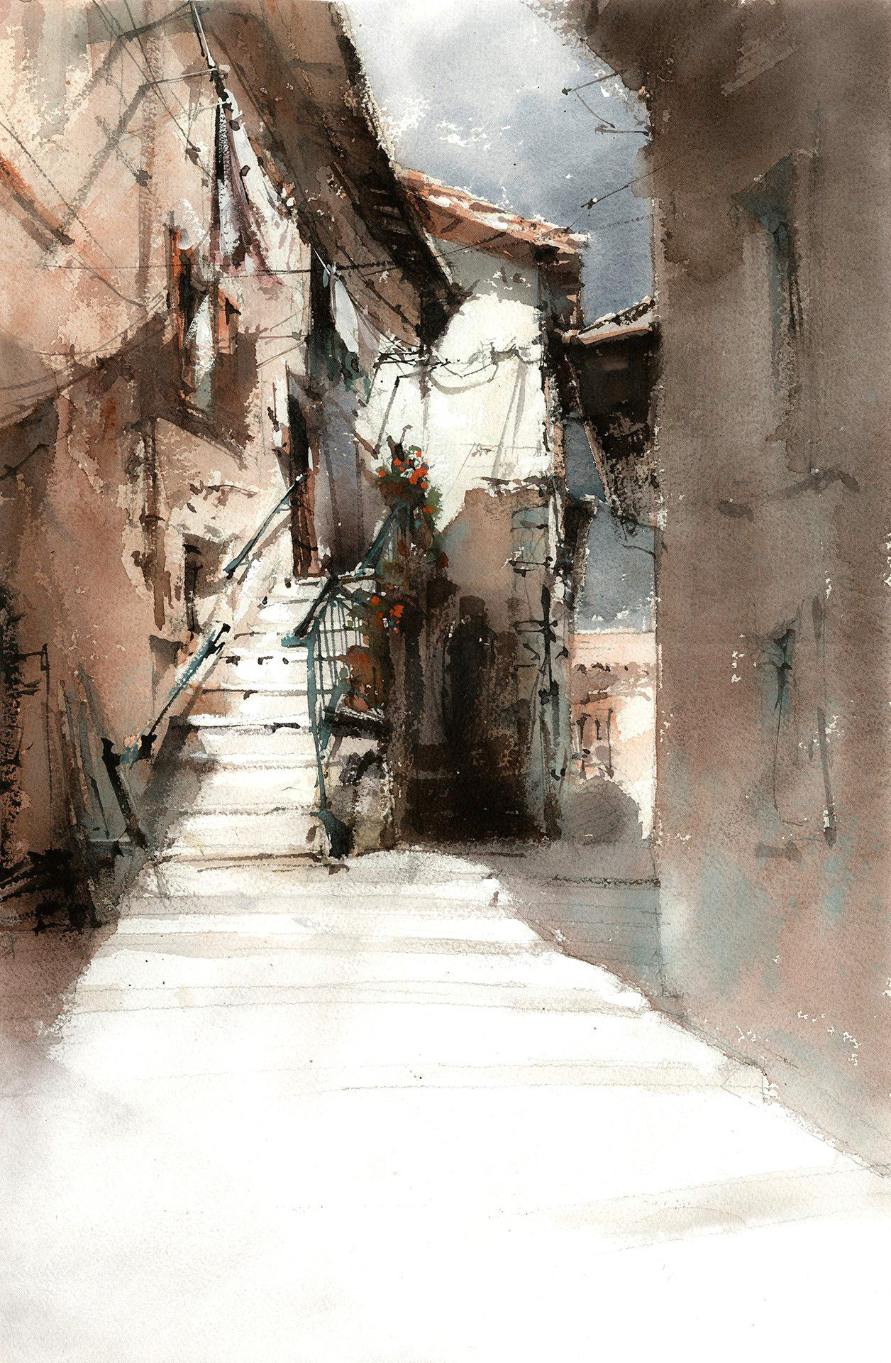Vladislav Yeliseyev Architecture Painting Watercolor Architecture