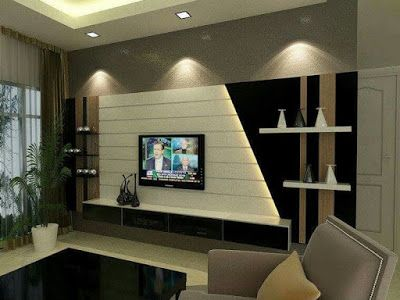 Gypsum Board Tv Wall Design With Led Lights For Modern Living Rooms 2018 Modern Tv Wall Units Living Room Tv Unit Designs Tv Wall Unit