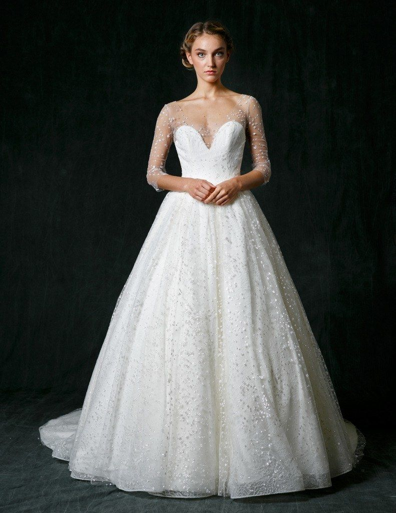 2f5ffb6e7be 70 Sparkly Wedding Gowns for the Glamorous Bride in 2019